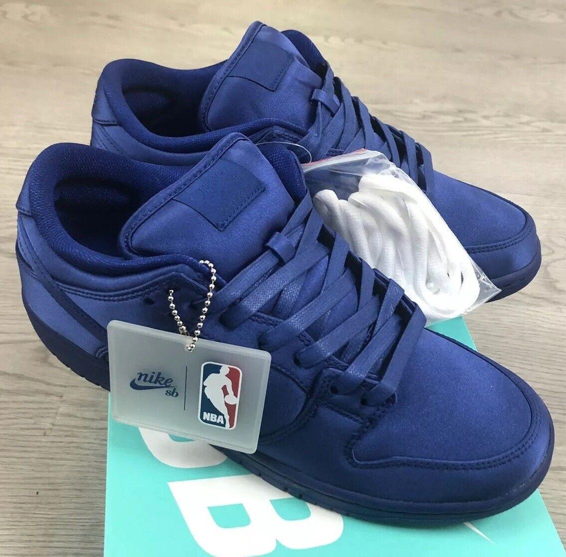 Nike Sb Dunk Bas Trd NBA Profond Royal Bleu Sz 10 Nib AR1577-446