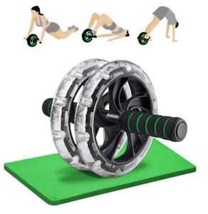 RULLO-ABS-RUOTA-con-nucleo-Ginocchio-tappetino-Forza-Esercizio-Allenamento-Allenamento-abdimonal