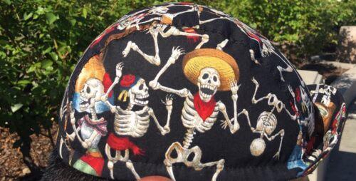 Cycling cap fiesta de muertos one size 100/% COTTON   handmade new
