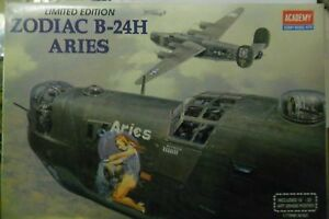 ACADEMY-1-72-KIT-ZODIAC-B-24H-ARIES-WITH-ART-GRADE-POSTER-LIMITED-ED-ART-2160