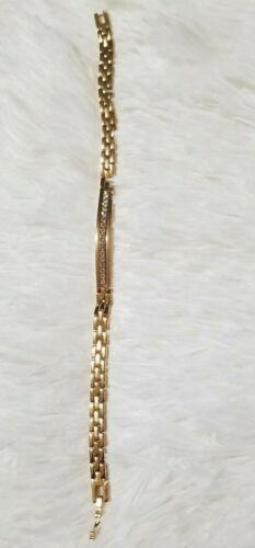 Ladies Women 18K Gold Platted Charm Bracelet
