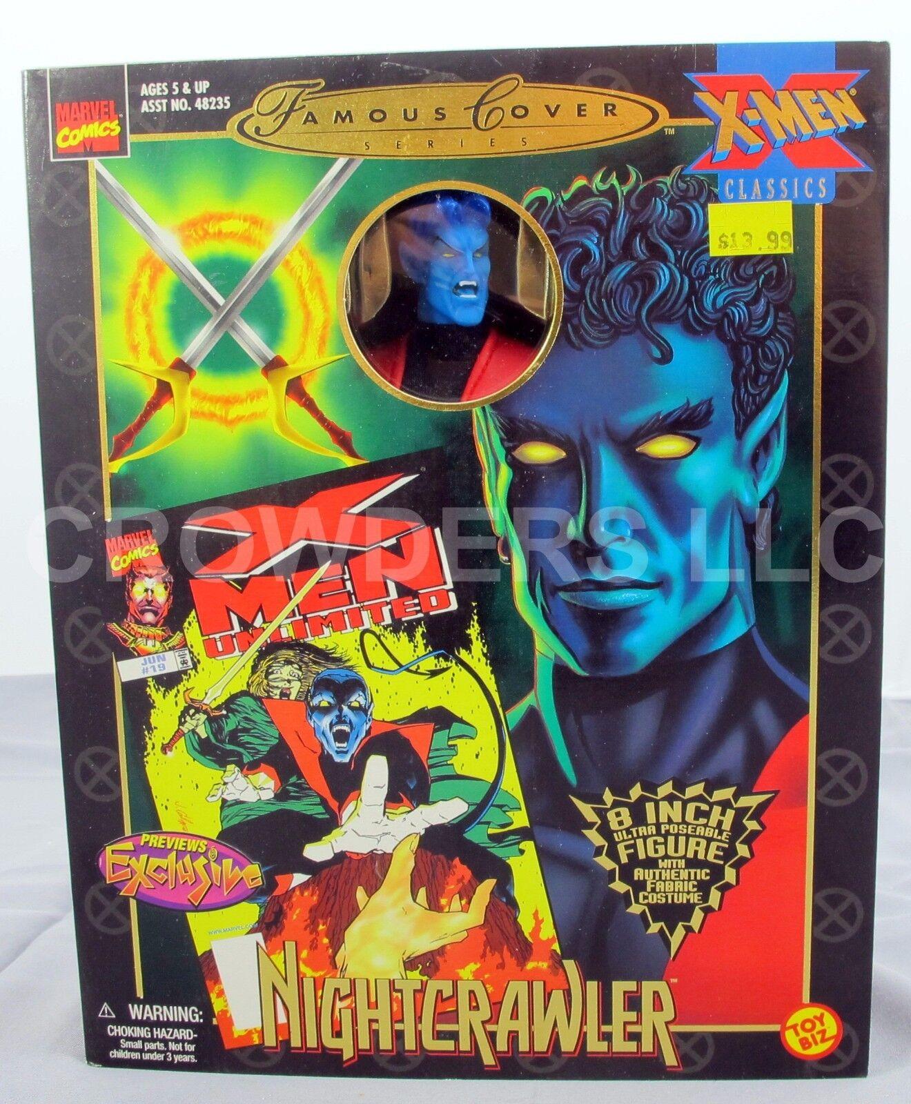 Marvel Comics Famous Cover Series XUomo Classics NIGHTCRAWLER 8  Figure '99 NIP