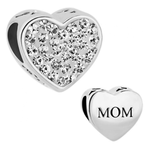 be2ce82b4d3c Image is loading Authentic-Silver-Heart-Crystals-I-Love-Mother-Mom-