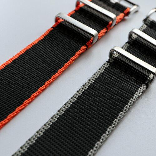 SALE 2 Rings RAF Seatbelt NATO MilSpec Nylon Strap Brushed Buckle Flat Loops
