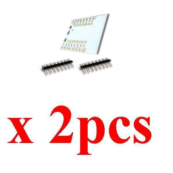 2x ESP8266 ESP-12E ESP-12F Wifi Drahtlos Transceiver Adapter Modul +3.3V Regler