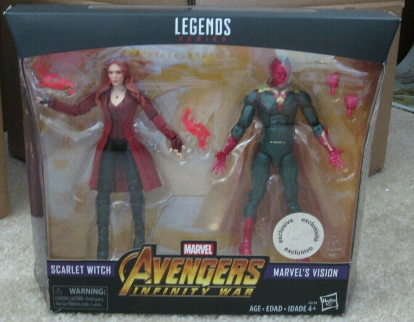 Marvel Legends 6  MCU Vision + Scarlet Witch New Sealed Mint Avengers Infinity