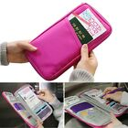 Passport Wallet Polyester Multifunction Credit Card ID Holder Travel Storage Bag