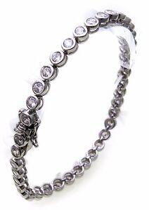 Damen-Tennis-Armband-echt-Silber-925-Zirkonia-5-0-mm-breit-Sterlingsilber-Neu