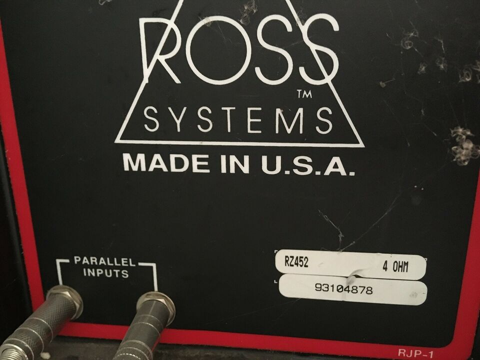 2x2 stk store kraftige PA speakers, Ross RZ452 og RCS183