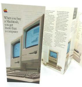 APPLE-MACINTOSH-512K-PLUS-vintage-advertising-brochure