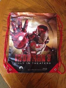 Adaptable Marvel Iron Man 3 Draw String Bag Neuf Sans Emballage Les Clients D'Abord