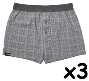 3 X STORM LONDON Boxer Shorts déhanchés ~ NEUF avec étiquettes ~ plus de 60/% de réduction