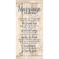Marriage Prayer Wooden PlaqueSign - Love Wedding Bridal Shower Gift