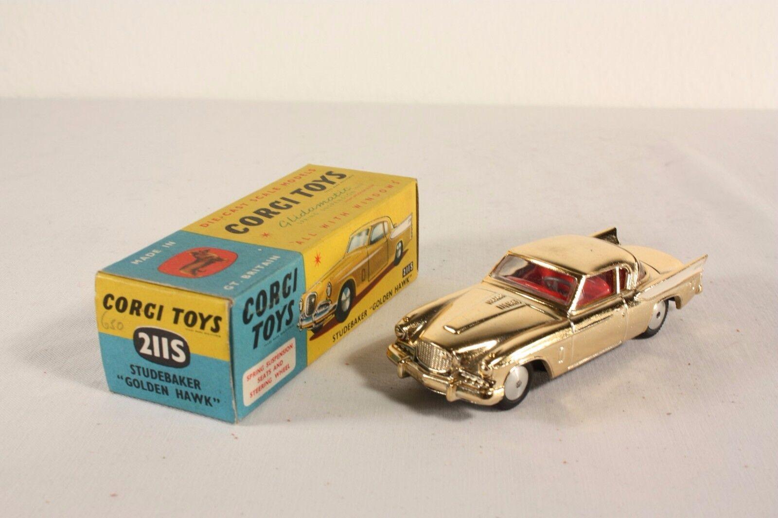 Corgi toys 211 S, Studebaker Golden Hawk, Mint en box,  ab1726