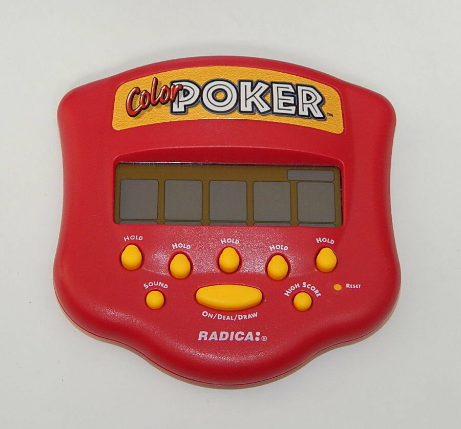 Radica color Poker Handheld Electronic Casino Card Travel Video Game 1999 R12050