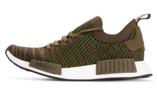 adidas NMD R1 STLT PK CQ2389 Men's Shoe Trace OliveCore Black sz 10, 13