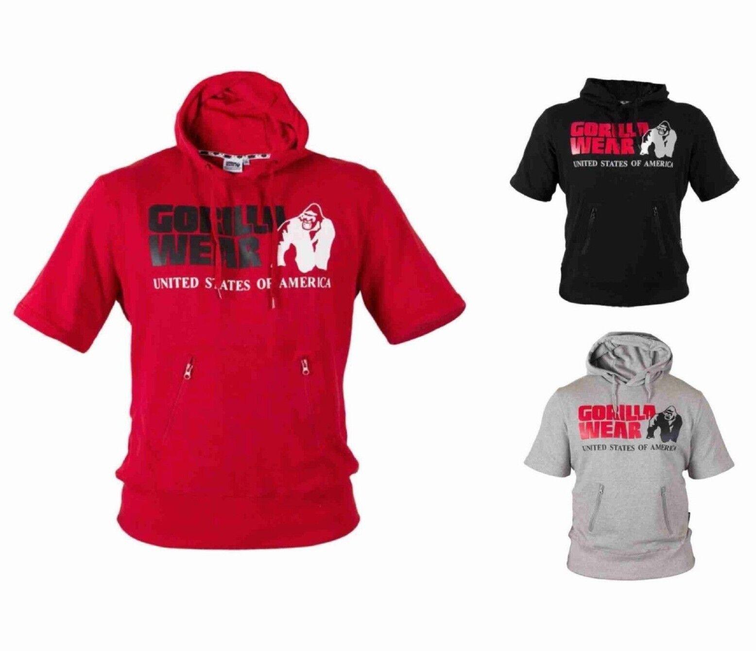 Gorilla Wear Boston Short Sleeve Hoodie Bodybuilding Fitness