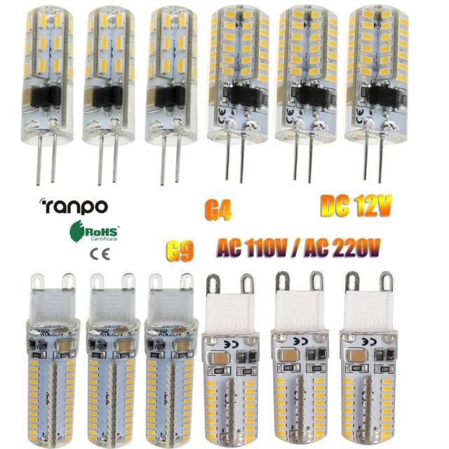 LED Light Bulb G4 G9 Silicone Crystal  3W 5W 6W 10W 3014 SMD 110V 220V Lamp RD20