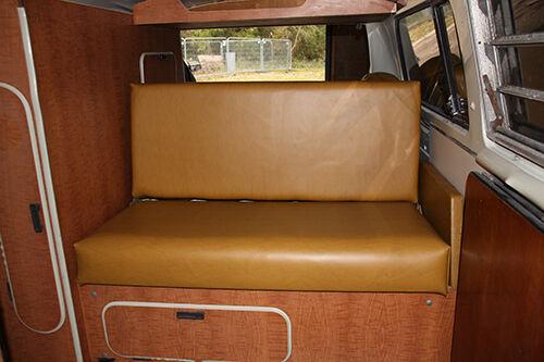 Westfalia Mustard Vinyl Arm Rest Cover for VW T2 Early Bay 1968-1974 C9492