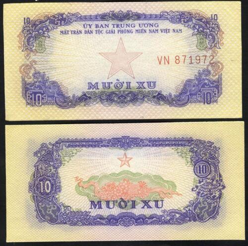 Pick R001 VIET NAM SOUTH 10 Xu 1963 UNC