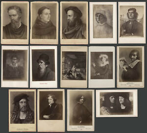 Fourteen-1880s-Cabinet-Cards-Photographs-Photos-FAMOUS-PAINTERS-ARTISTS