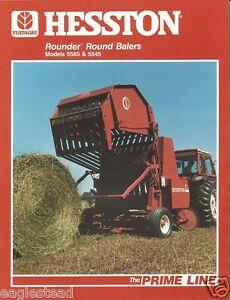 Details about Farm Equipment Brochure - Hesston - 5585 5545 - Rounder Round  Baler (F1322)