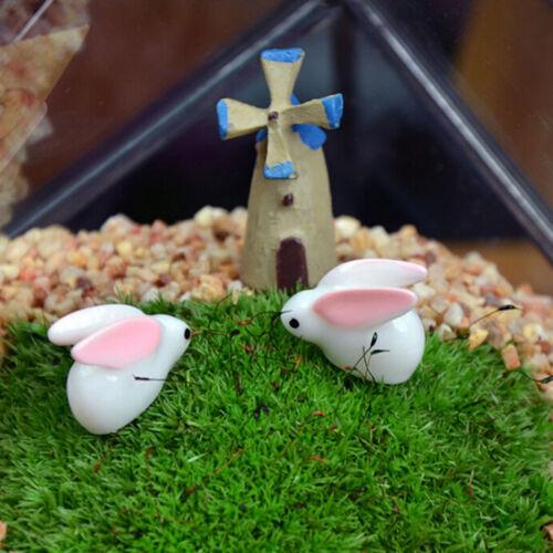 Mini Rabbit Garden Resin Miniature Garden Figurine Mini Landscape Decor P/& A NMC