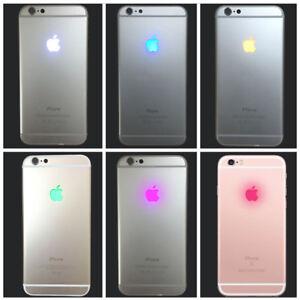 super popular 55db4 3045b Details about Pour Kit apple lumineux / Light Glow Color iPhone 6 6s 6+ 7  Logo LED Case Back