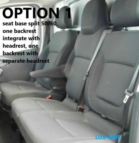RENAULT TRAFIC 2014 2015 2016 2017 2018 2019 FABRIC TAILORED FRONT SEAT COVERS