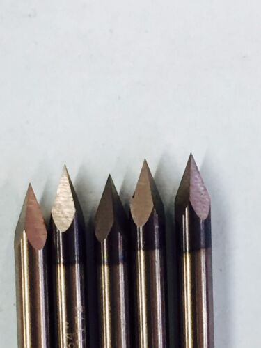 Engraving Tools Carbide Cutters bit 22 degree 1//8 di USA CNC 5 pcs Dremel bits !