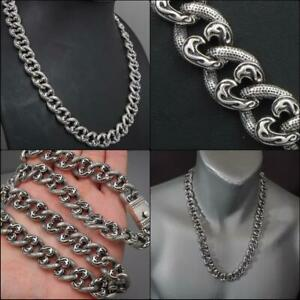 """curb link 925 sterling silver ag authentic genuine mens necklace chain 20-26/"""""""