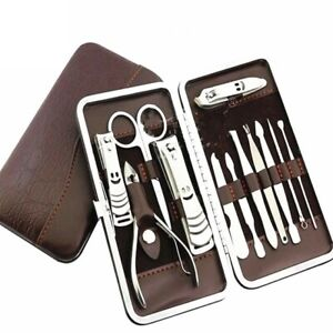 12PCS-Pedicure-Manicure-Set-Nail-Clippers-Cleaner-Cuticle-Grooming-Kit-Case