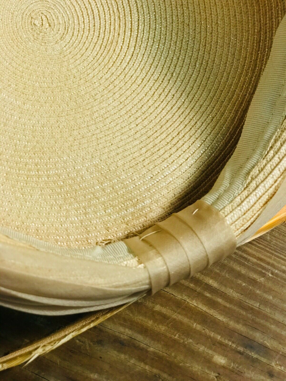 Vintage Womens Woven Wheat Straw Cap - image 6