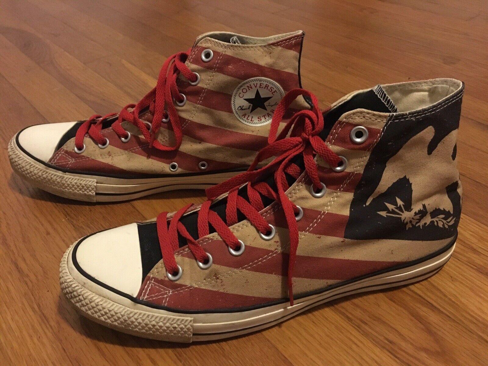 Converse All Star American Flag Stars Eagle High Top Chucks Used Mens 12