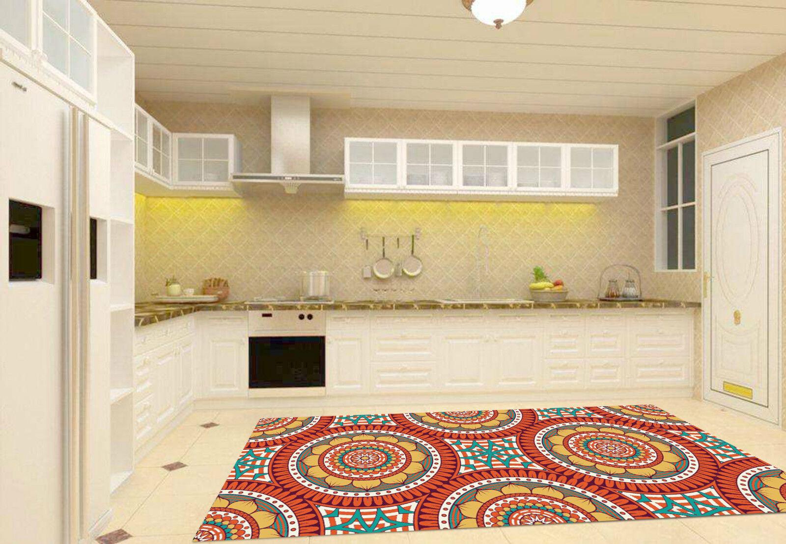 3D Round Pattern Kitchen Mat Floor Murals Wall Print Wall Deco AJ WALLPAPER CA