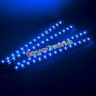 4x 15 SMD LEDs 30cm Car Auto Flexible Grill Light Lamp Strip Waterproof BLUE