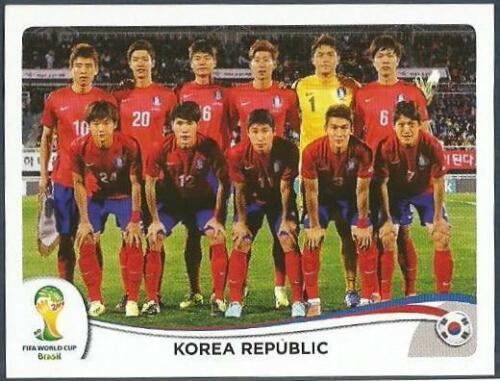 #622-KOREA REPUBLIC-SOUTH KOREA TEAM PHOTO PANINI WORLD CUP 2014