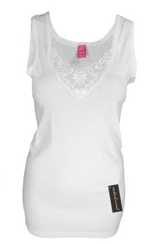 Damen Träger Unterhemd Vollachsel 4er Set in schwarz oder weiß 100/% Baumwolle