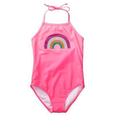 NWT Gymboree Girl Pink Geo swimsuit 2 pc SZ 4,5//6,7//8,10//12 UPF 50+
