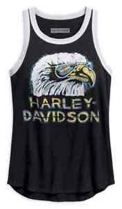 Genuine-Harley-Davidson-Size-L-Vintage-Style-Retro-Eagle-Tank-Top-Black-Eagle