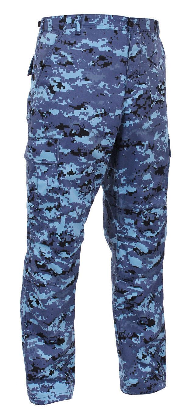Bdu pants pant military style cargo sky bluee digital camo redhco 99620
