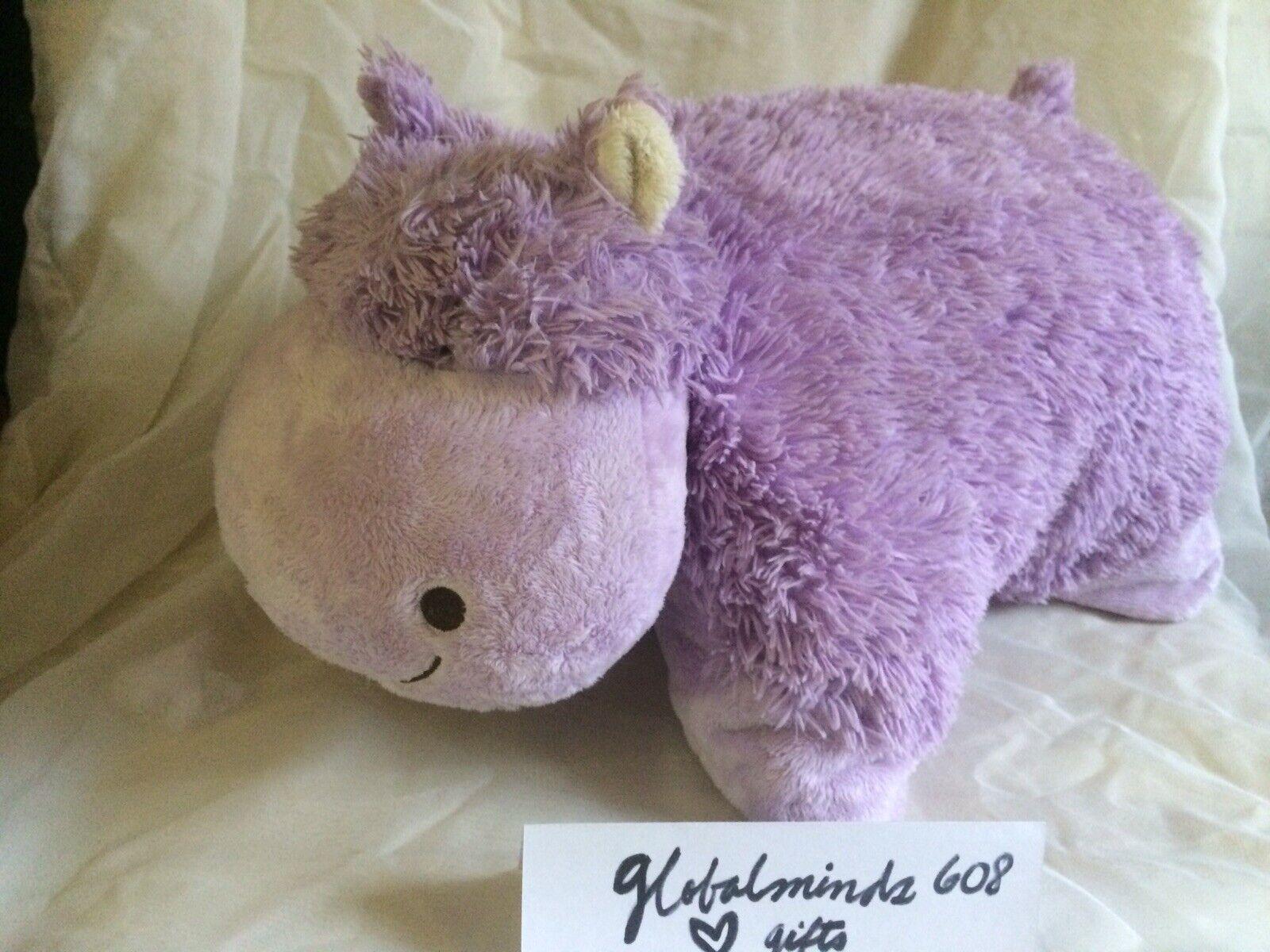 My Pillow Pets Hippo Large viola_Lavender by Pillow Pets TM 18x 17 Soft