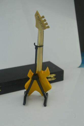 1//6 Scale Handmade wooden yellow color Folk electric guitar model instrument