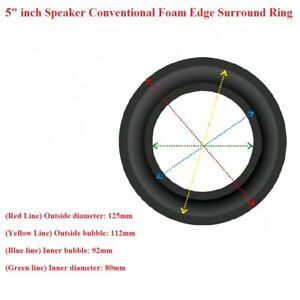 """2Pcs 4/""""inch Speaker Foam Edge Surround Ring Diaphragm Loudspeaker Repair Parts"""