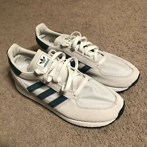 Adidas-Forest-Grove-Originals-Men-s-Shoe-US-Size-10-White-Green-ART-b41546
