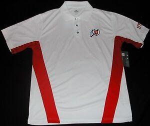Utah utes golf coaches football polo shirt men 39 s m l xl 2x for Soccer coach polo shirt