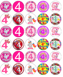 30 Unicorn Personalised Message Birthday CupcakeFairy Cake Toppers