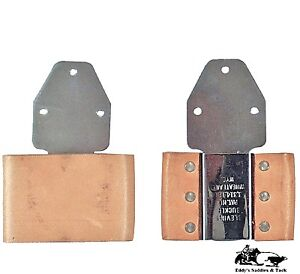 Blevins-Quick-Change-3-034-Leather-Covered-Vertical-Stirrup-Buckles-Pair-Free-Ship