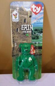 Ty McDonald sTeenie Beanie Baby Erin the Ireland Bear  1999 Sealed ... c7d615839df