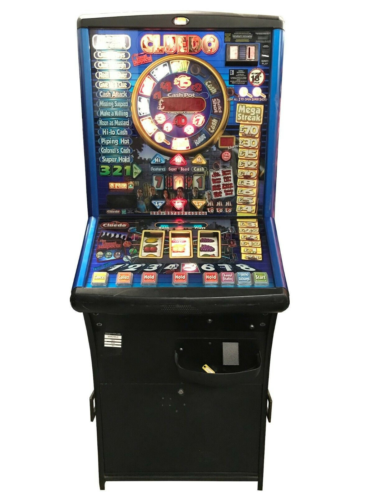 Cluedo The Usual Suspects Fruit Machine - Ready to Play - Games Room Home Bar